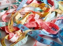 Cintas de medición Imágenes de archivo libres de regalías