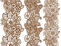 Cintas de Mehndi Diseño de Paisley stock de ilustración