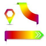 Cintas del arco iris e indicador del mapa Imagen de archivo libre de regalías