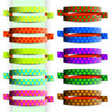 Cintas del color con textura del círculo Imagen de archivo libre de regalías