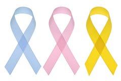 Cintas del conocimiento del cáncer Imagen de archivo libre de regalías