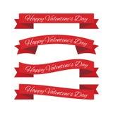 Cintas del día de tarjeta del día de San Valentín stock de ilustración