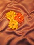 Cintas en el satén Imagen de archivo libre de regalías