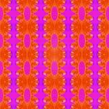 Cintas encrespadas rosa anaranjado Foto de archivo libre de regalías