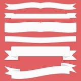 Cintas fijadas Cintas y banderas planas del diseño ilustración del vector