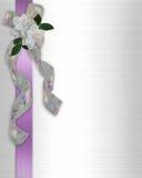 Cintas florales de la invitación de la boda Imágenes de archivo libres de regalías