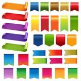 Cintas y elementos coloridos grandes del diseño ilustración del vector