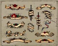 Cintas heráldicas Imagen de archivo libre de regalías