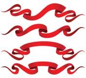 Cintas rojas Imagen de archivo libre de regalías