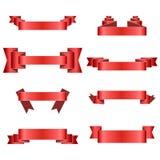Cintas rojas stock de ilustración
