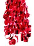 Cintas rojas brillantes Foto de archivo libre de regalías