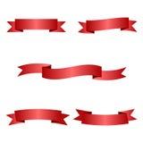 Cintas rojas fijadas Fotografía de archivo libre de regalías