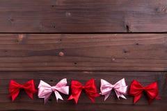 Cintas rojas y rosadas Foto de archivo libre de regalías
