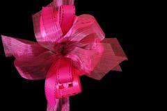 Cintas rosadas vibrantes del regalo Imágenes de archivo libres de regalías