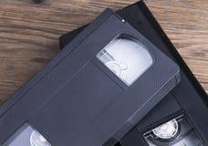 Cintas video retras viejas Foto de archivo libre de regalías