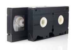 Cintas video viejas de VHS Imagen de archivo libre de regalías