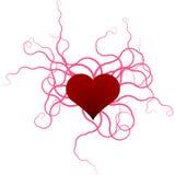 Cintas y corazón Imagen de archivo