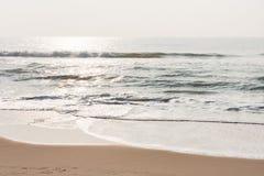 Cintilar acena na praia fotografia de stock