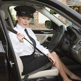 Cinto de segurança da asseguração do motorista fotos de stock