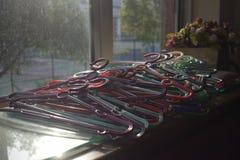 Cintre de tissu coloré photo libre de droits