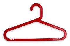 Cintre de tissu rouge Photographie stock libre de droits