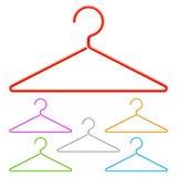 Cintres de couleur Image libre de droits
