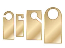 Cintres de porte d'or Image stock