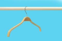 Cintres de tissu dans la rangée Photo libre de droits