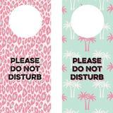 Cintres imprimables de poignée de porte Photos libres de droits