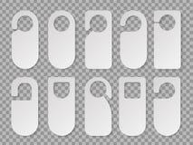 Cintres réalistes de chambre d'hôtel d'isolement dans le fond illustration stock