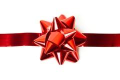cintrez le blanc rouge de bande de chemin d'isolement par includs de cadeau de fichier de découpage Photos libres de droits