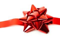 cintrez le blanc rouge de bande de chemin d'isolement par includs de cadeau de fichier de découpage Image libre de droits