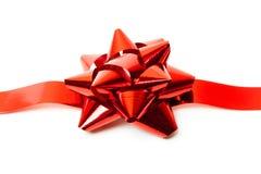 cintrez le blanc rouge de bande de chemin d'isolement par includs de cadeau de fichier de découpage Image stock