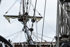 Cintrez le sprit sur S/V Galeon, reproduction de galion espagnol photos stock