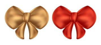 Cintrez les arcs blancs d'or et de rouge de fond de vecteur de papillon Photographie stock