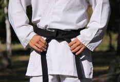 Cinturão negro fotografia de stock