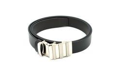 Cinturão negro isolado no fundo branco Imagens de Stock Royalty Free