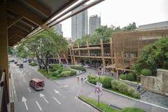 Cinturão verde, cidade de Makati Foto de Stock