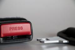 Cinturón de seguridad Imágenes de archivo libres de regalías