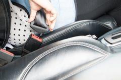 Cinturón de seguridad Foto de archivo