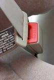 Cinturón de seguridad abrochado. Imagen de archivo