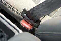 Cinturón de seguridad de coche Foto de archivo libre de regalías