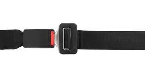 Cinturón de seguridad sujetado fotografía de archivo