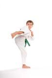 cinturón verde 7yo Fotos de archivo