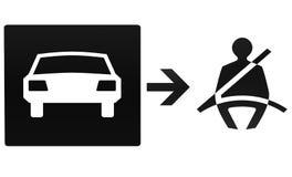 Cintura di sicurezza, automobile, illustrazione Fotografia Stock Libera da Diritti