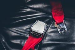 Cintura di sicurezza (effetto d'annata elaborato immagine filtrato Immagini Stock Libere da Diritti