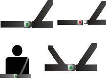 Cinturones de seguridad Imágenes de archivo libres de regalías