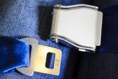 Cinturones de seguridad en el aeroplano Imagen de archivo