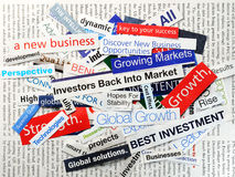 Cinvestors back Royalty Free Stock Photos