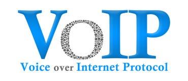 Cinza azul de VoIP Imagens de Stock Royalty Free